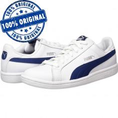 Pantofi sport Puma Smash pentru barbati - adidasi originali - piele naturala - Adidasi barbati Puma, Marime: 38.5, 39, 41, 42, 42.5, 43, 44, 44.5, 46, Culoare: Alb