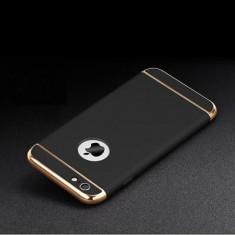 Husa telefon Iphone 6PLUS/6SPLUS ofera protectie 3in1 Ultrasubtire  - Black, iPhone 6 Plus, Negru, Plastic