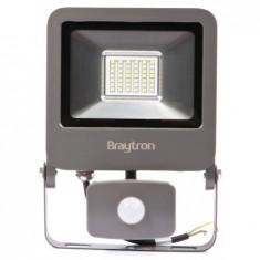 Proiector led 30W cu senzor SMD IP65 6400K, Gri, Braytron - Corp de iluminat, Proiectoare
