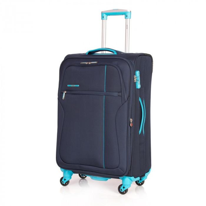 Troler Ultralight Lamonza, 77 cm, Bleumarin/Turquoise foto mare