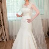 Rochie de mireasa dantela Ivory - Bonus voal