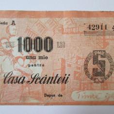 Romania 1000 Lei Casa Scanteii 1950 - Cambie si Cec