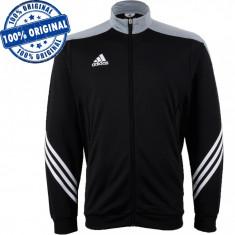 Bluza Adidas Sereno pentru barbati - bluza originala - Bluza barbati Adidas, Marime: S, Culoare: Negru, Cu fermoar, Poliester