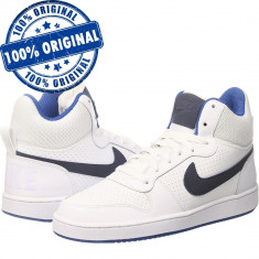 Pantofi sport Nike Court Borough Mid pentru barbati - adidasi originali - piele - Adidasi barbati Nike, Marime: 43, 45, Culoare: Alb, Piele naturala