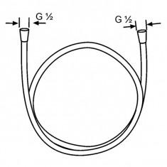 Kludi, Suparaflex Silver, furtun dus DN 15, 1600 mm, crom
