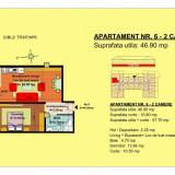 2 camere - Apartament de vanzare, 47 mp, Numar camere: 2, An constructie: 2018, Parter
