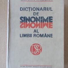 DICTIONARUL DE SINONIME AL LIMBII ROMANE- SECHE - Dictionar sinonime