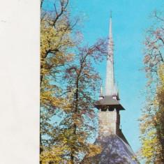 Bnk cp Oradea - Muzeul Judetean Bihor - Biserica de lemn - circulata - Carte Postala Crisana dupa 1918, Printata
