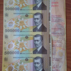 2000.12.22 - COLI SPECIALE - cupiură 4x500.000 Lei