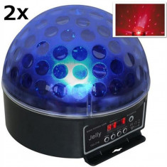 Set de 2 Beamz Magic Jelly Ball DMX LED efect de lumină - Console DJ