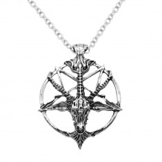 Colier Pandantiv Medalion Lantisor pentagrama pentagrama - Pandantiv fashion