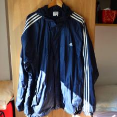 Geaca Adidas originala XL / geaca Adidas alergare, ploaie, vant / foita adidas - Geaca barbati Adidas, Culoare: Bleumarin