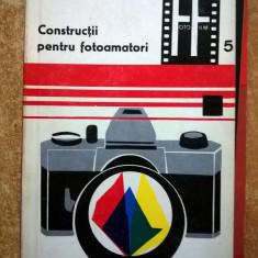 Leonida Tanasescu - Constructii pentru fotoamatori 1 - Carte Fotografie