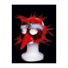 Masca cu Pene si Cioc rosie - Carnaval24