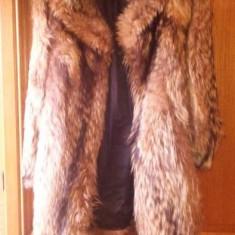 Haina de dama din blana de vulpe - haina de blana