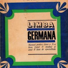 Limba germană clasa a X-a, didactica si pedagogica