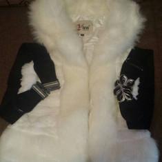 Vesta de blana - Vesta dama, Marime: 36, Culoare: Alb