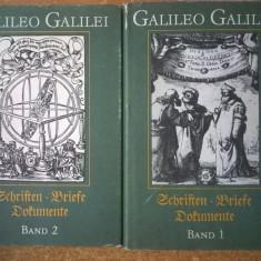 Galileo Galilei - Schriften * Briefe * Dokumente {2 volume, 1987} - Carte in germana