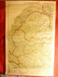 Harta Regiunii Storojinet-Campulung1928 Litografie ,dim.=32x48 cm long. 43-48 gr