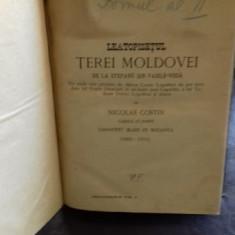 LETOPISETUL TEREI MOLDOVEI DE LA STEFANO SIN VASILE VODA - NICOLAE COSTIN - Carte de colectie