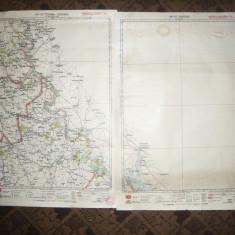 2 Harti -Purcari si Tighina- Chisinau 1928 -Litografii Cartograf M.D.Moldoveanu - Harta