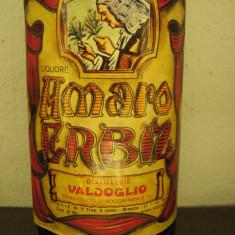 Amaro erbiz, distilleria valdoglio, italy, L. 1, gr 28 ani 1950 - Lichior