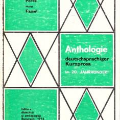 Anthologie deutschsprachiger Kurzprosa im 20.Jahrhundert - Curs Limba Germana didactica si pedagogica