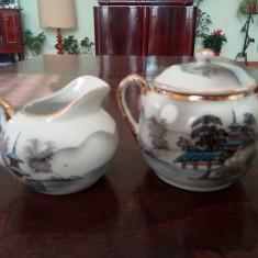 Letiera Si Zaharnita Portelan Chinezesc Japonez Satsuma Moriage, Decorative