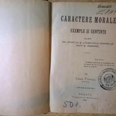 Ioan Popea - Caractere morale, exemple si sentinte {1899}