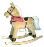 Balansoar - Calut de lemn - Maro deschis, New Classic Toys