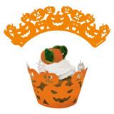 Decoratiuni pentru cupcakes dovleac Halloween - 5.5 cm, Radar 25265, set 12 bucati