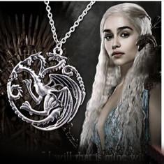 Colier Game of Thrones -Daenerys Targaryen Dragon Khalessi pandantiv cu lantisor - Pandantiv fashion