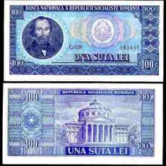 Romania 1966 - 100 lei UNC - Bancnota romaneasca