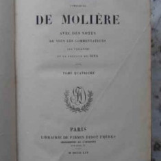 Oeuvres Completes Tome 4 Le Bourgeois Gentilhomme, Psyche, L - Moliere, 406382 - Carte Teatru