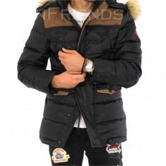 Geaca barbati iarna neagra - 9435 M5, Marime: L, XL, XXL, Culoare: Din imagine