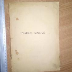 CARTE VECHE -L AMOUR MASQUE - HONORE DE BALZAC