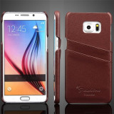 Husa Samsung Galaxy S7 Edge G935 G935F + stylus, Maro, Piele