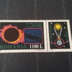 Romania 1998-LP 1471a-Eclipsa totala de soare cu vinieta, nestampilate. - Timbre Romania