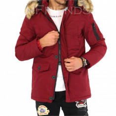 Geaca barbati iarna rosie - geaca slim fit COLECTIE NOUA 9430 M3, Marime: M, XL, Culoare: Din imagine