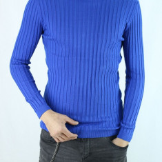 Bluza Barbati Pe Gat Maleta Barbati Pe Gat Albastra SlimFit Casual Helanca, Marime: S/M, M/L, L/XL, Culoare: Albastru, Bumbac