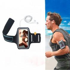 Armband husa de brat mana telefon alergat sala pt Samsung S7 Edge S8 S9 Note 5, Samsung Galaxy S7 Edge, Negru
