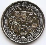 Africa de Sud 5 Rand 2011 - (90 Years SACB) 26 mm, KM-507 UNC !!!