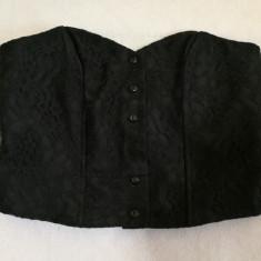 Corset negru dantelat, Marime: Alta, Fara bretele