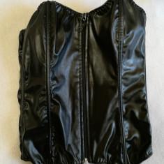 Corset negru gothic (Ottela Collection), Marime: Alta, Fara bretele