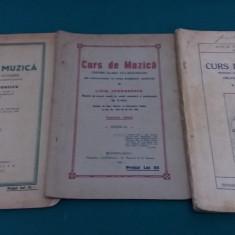 CURS DE MUZICĂ PENTRU CLASA V, VI, VII-A SECUNDARĂ / LIVIA TEODORESCU/1929 - Carte veche