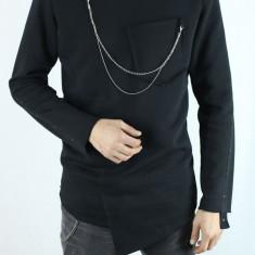 Bluza barbati lunga in colt lunga fashion groasa la baza gatului slim fit casual