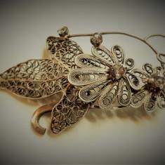 Brosa argint VIENEZA 1900 in filigran SPLENDIDA delicata FINUTA superba de Efect