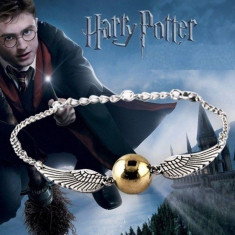 Bratara Harry Potter - Golden Snitch Angel Wing - Deathly Hallows Hotoaica