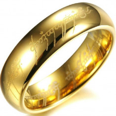 Inel Lord Of The Rings LOTR, Stapanul Inelelor - Material Titan si Inox - Inel inox