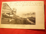 Ilustrata Salonic -Vedere din exteriorul zidului cetatii-inc.sec.XX, Circulata, Printata